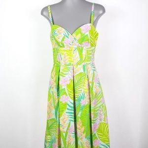 Lilly Pulitzer Billie Palm Leaf Dress 0